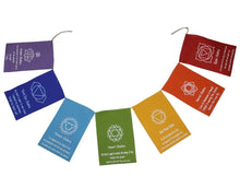 Load image into Gallery viewer, Chakra Banner Seven Chakra Prayer Flag, Prayer Flag Hanging