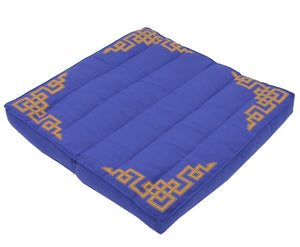 Traditional Tibetan Yoga Meditation Accessory Cotton Mat Cushion Blue