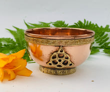 Load image into Gallery viewer, Copper Bowl Smudge, Charcoal, Incense Burner, Ritual Altar Bowl, Offering Bowl.