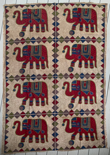 "Indian Elephants Tapestry 80"" X 50"""