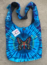 Load image into Gallery viewer, Tie Dye Hippie Hobo Crossbody Butterfly  Bag Purse Nepal