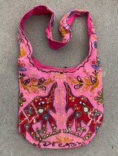 Load image into Gallery viewer, Elephants Hobo Hippie Bohemian Sling Crossbody Bag Purse