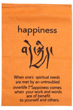 Load image into Gallery viewer, Handmade Tibetan Affirmation Prayer Flags - Peace, Happiness, Courage, Love, Tranquility, Wisdom