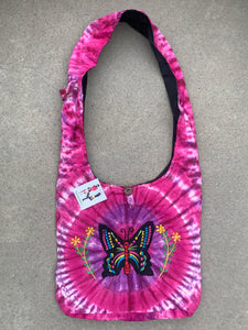 Tie Dye Hippie Hobo Crossbody Butterfly  Bag Purse Nepal