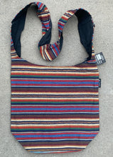 Load image into Gallery viewer, Handloom Striped Bohemian Hobo Hippie Sling Crossbody Bag Purse