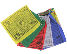 Load image into Gallery viewer, Tibetan Buddhist Prayer Flags Indoor Outdoor Wind Horse Prayer Flags - Pack of 25 Flags
