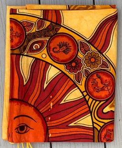 "Sun Zodiac Tapestry Wall Decor Hanging 80""X50"" Yellow"