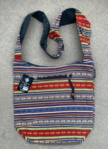 Handloom Striped Bohemian Hobo Hippie Sling Crossbody Bag Purse