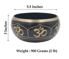 Load image into Gallery viewer, Tibetan Extra Large Heavy Meditation OM Peace Singing Bowl With Mallet and Silk Cushion
