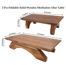 Load image into Gallery viewer, Premium Solid Wood Hand Carved Personal Shrine Altar Meditation Table