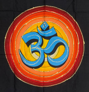 Hindu Om Tapestry Wall Decor Hanging 30 X 43 Inches