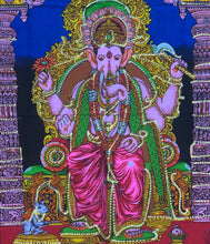 "Load image into Gallery viewer, Ganesh Ganesha Yoga Tapestry Wall Hanging Decor 30"" X 43"""