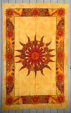 "Load image into Gallery viewer, Sun Zodiac Tapestry Wall Decor Hanging 80""X50"" Yellow"