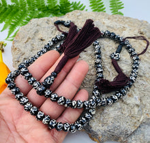Load image into Gallery viewer, Om Tibetan 108 Bone Beads Mala With Counters and Free Pouch