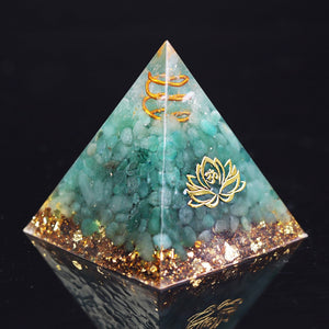 Natural Green Aventurine Tumbled Stones Orgone Pyramid Enhance Courage Crystal Gemstone Healing Emf Protect