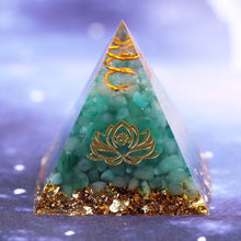 Load image into Gallery viewer, Natural Green Aventurine Tumbled Stones Orgone Pyramid Enhance Courage Crystal Gemstone Healing Emf Protect