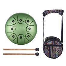 Load image into Gallery viewer, 5.5 Inch Tongue Drum Mini 8-Tone Steel Tongue Drum C Key Hand Pan Drum with Drum Mallets Carry Bag Percussion Instrument
