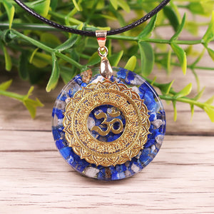 Natural Lapis Lazuli Necklace Orgonite Pendant Necklace Energy Healing Yoga Necklace Meditation Jewelry For Women