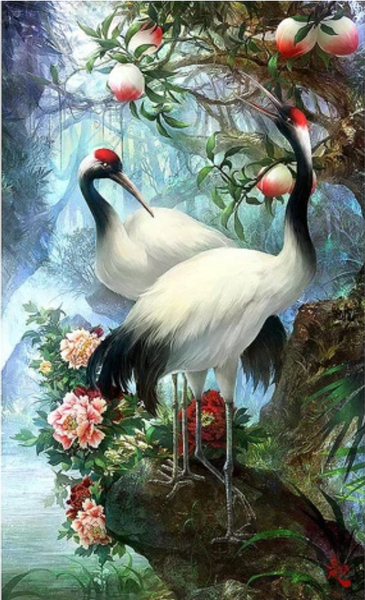 Red-Crowned Crane Diy Paint By Numbers Kits Uk BN91578