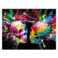 Skull Diy Paint By Numbers Kits Uk FA90028