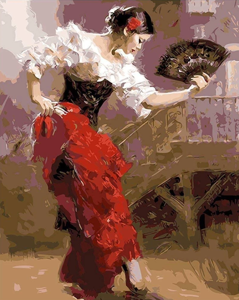 Dancing Woman Diy Paint By Numbers Kits Uk Q1442