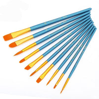 10x High Quality Paint Brushes Diy Paint By Numbers Uk PB9001