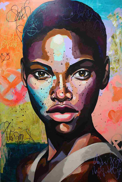 African Woman Portrait Diy Paint By Numbers Kits Uk BN53047