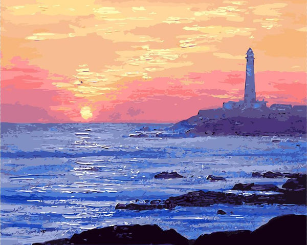 Landscape Lighthouse Paint By Numbers Kits Uk VM91041