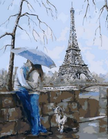 Landscape Eiffel Tower Diy Paint By Numbers Kits Uk ZXQ1435