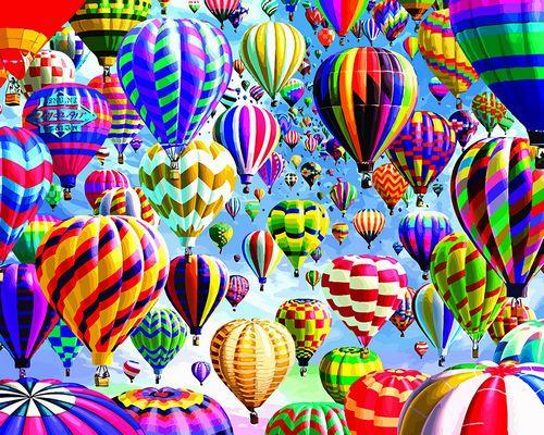 Hot Air Balloon Diy Paint By Numbers Kits Uk VM80025
