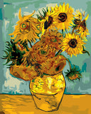 Van Gogh Sunflower Diy Paint By Numbers Kits Uk GX081