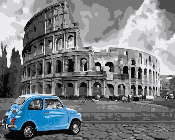 Colosseum Diy Paint By Numbers Kits UK WM587