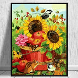 Sunflower Diy Paint By Numbers Kits Uk ZXQ2464