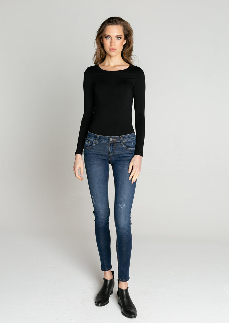 Florence Scoop Neck Long Sleeve Tee