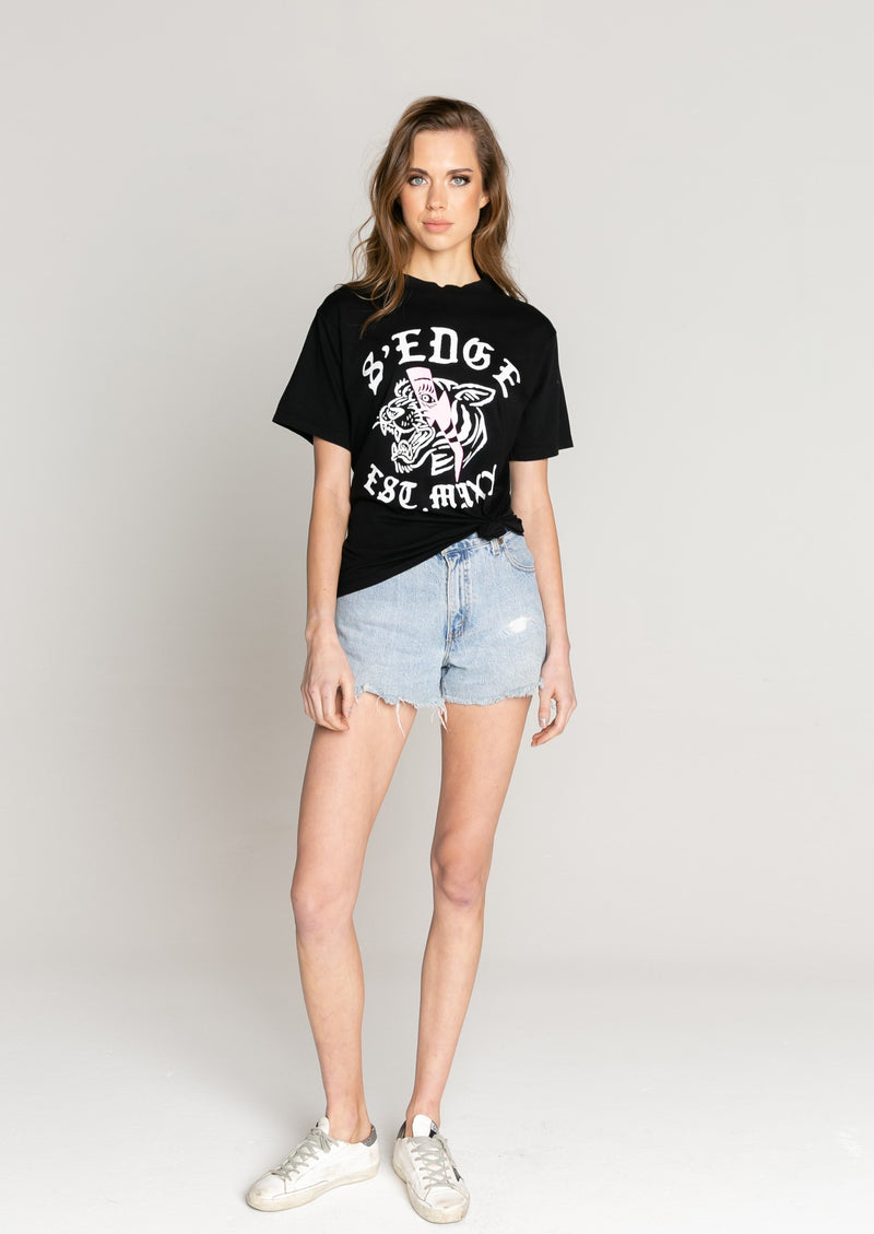 Austin Boyfriend Tiger Graphic Tee