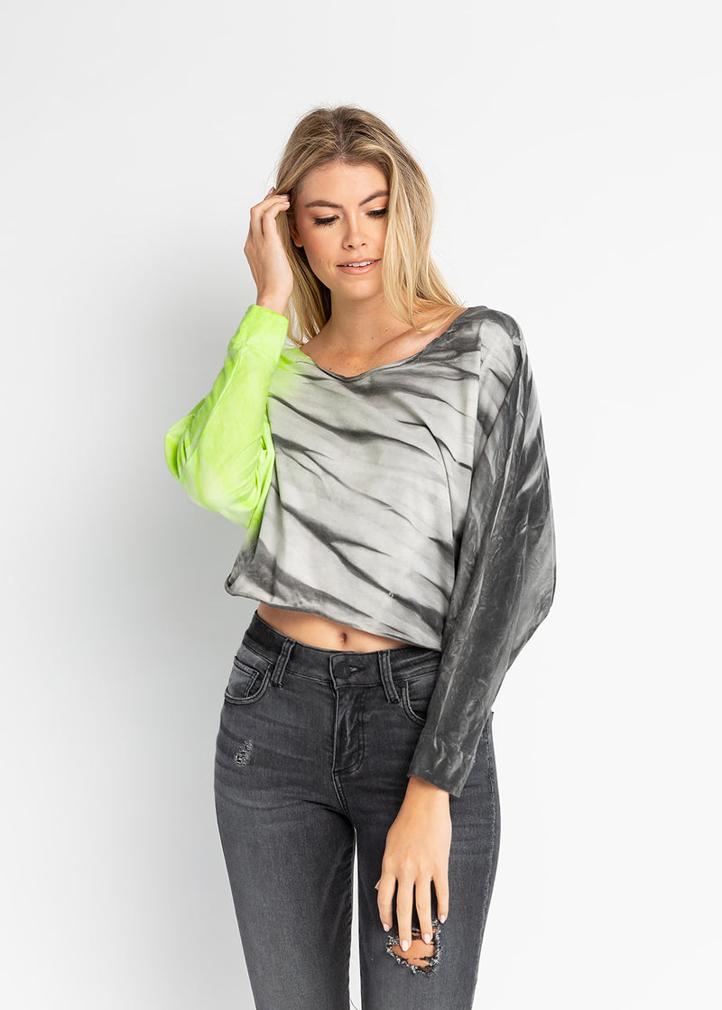 Marilyn Batwing Tie-Dye Top