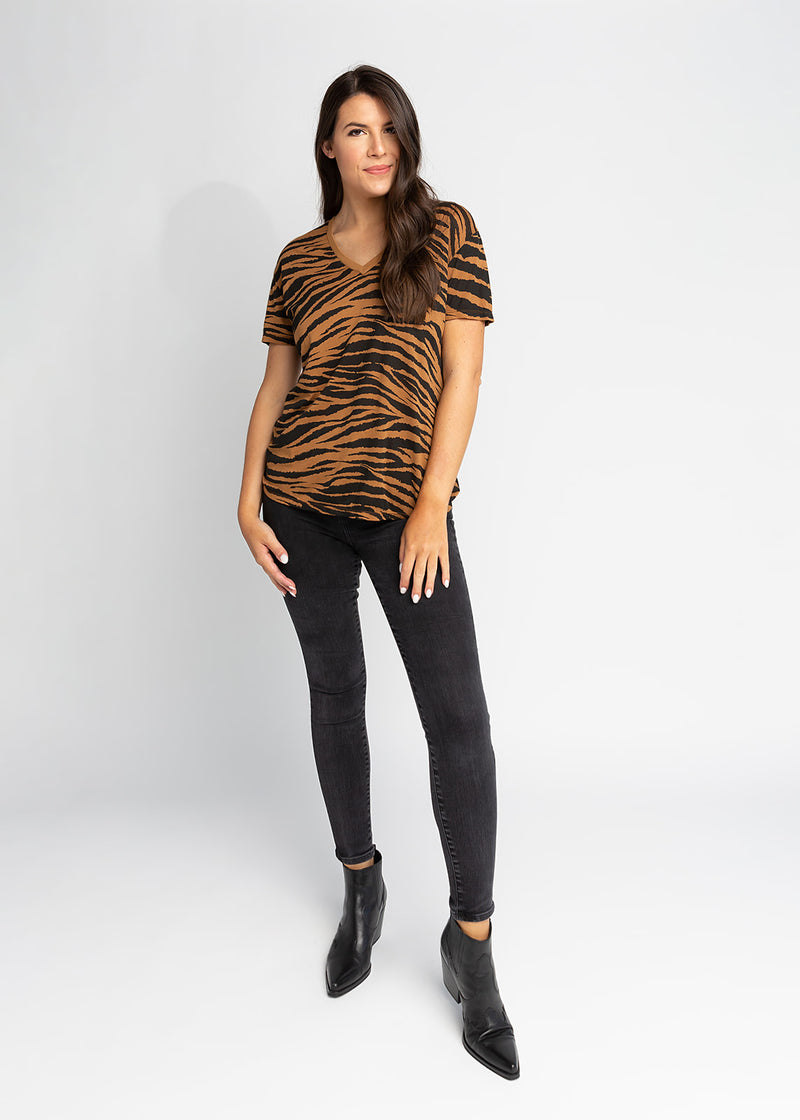Paris Tiger V-Neck Tee
