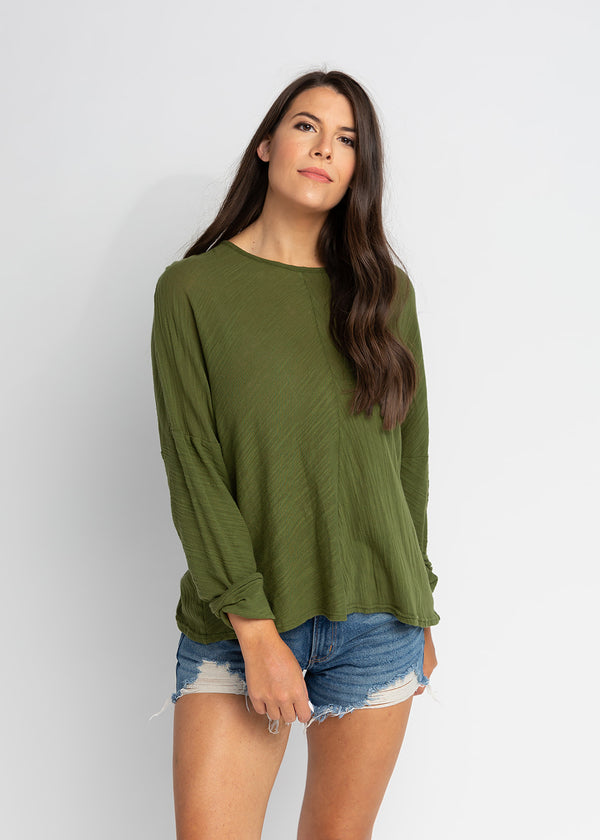 FINLEY DROP SHOULDER LONG SLEEVE TOP