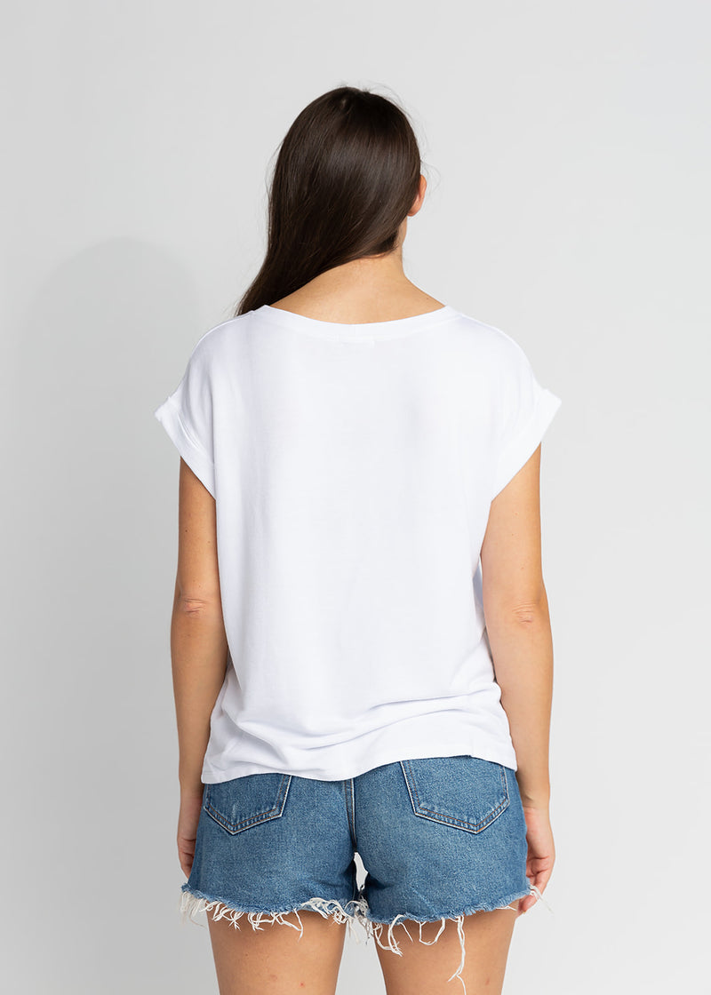 LYDIA DROP SLEEVE SWEATSHIRT W/ ROLLED CUFF