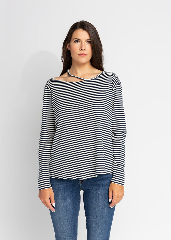 STELLA CUT-OUT STRIPE TUNIC