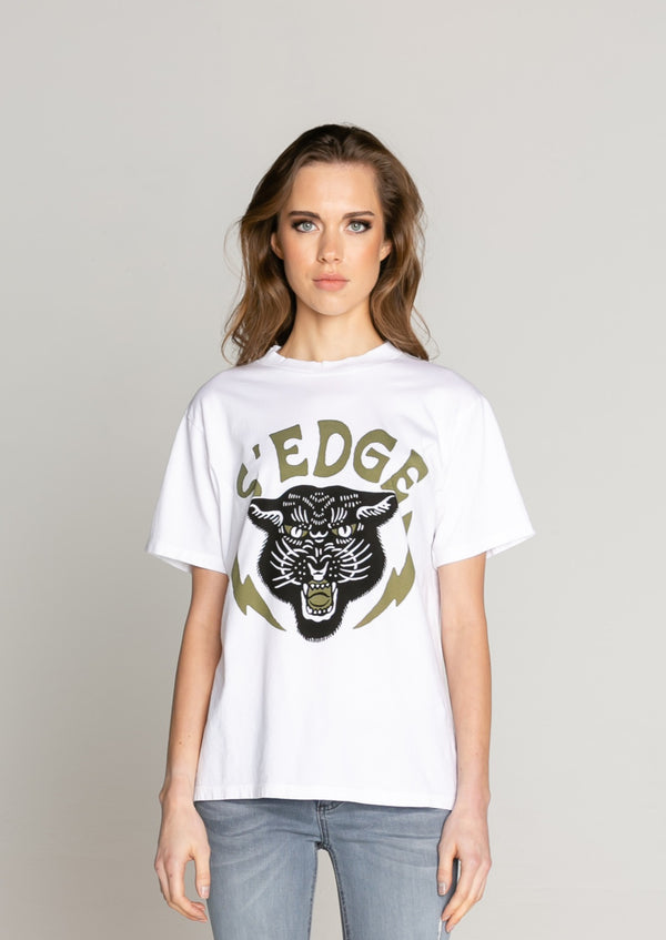 AUSTIN BOYFRIEND PANTHER GRAPHIC TEE