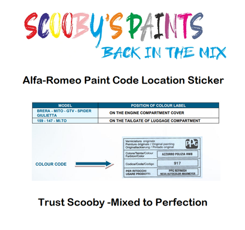 Alfa-Romeo-Car-Paint-Code-Location-Sticker-Plate