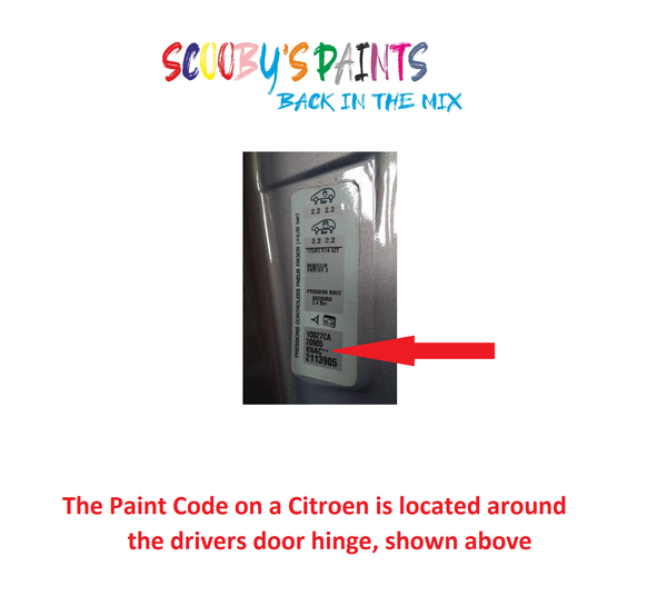 Citroen-C15-Van-Car-Paint-Code-Locations