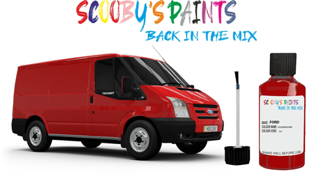 Ford Transit Van red blue silver yellow green black blue touch up paint