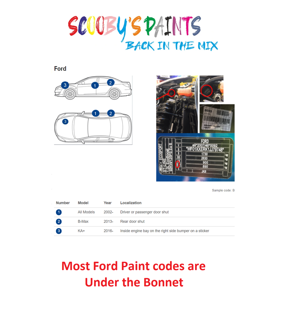 Ford-Transit-Connect-Van-Car-Paint-Code-Locations