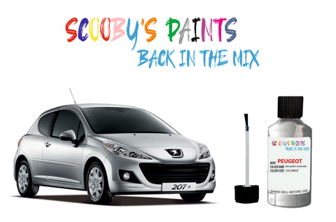 Peugeot 207 Car Touch Up Paints silver, red, blue, green, black, metallic