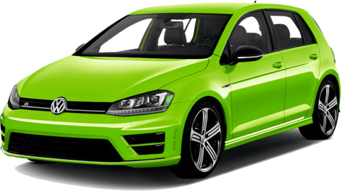 VW Golf Fantacy Concept Green Lime Gold Paint