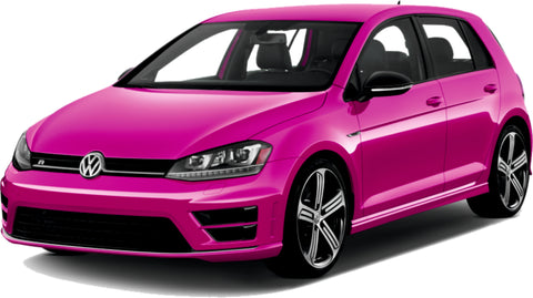VW Golf Fantacy Concept Pink Paint