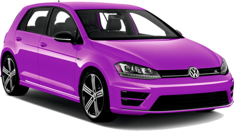 VW Golf Fantacy Concept Purple Special Effect Paint