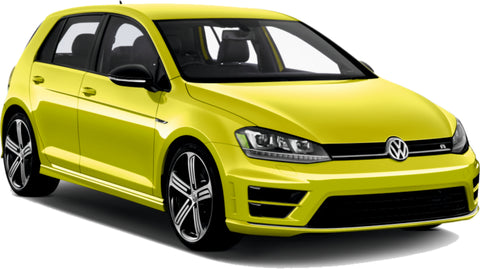 VW Golf Fantacy Concept Yellow Lime Gold Paint